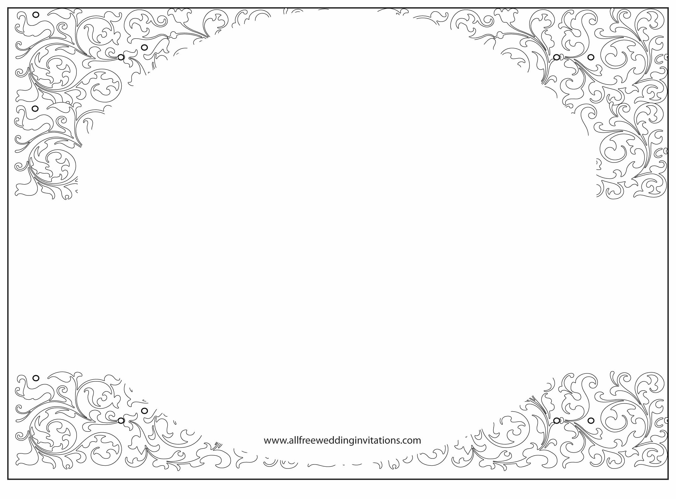 White Wedding - ALL FREE Wedding Invitations